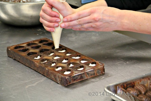 Each Bon Bon is filled by hand at The Secret Chocolatier in Charlotte, NC. #HandmadeNC