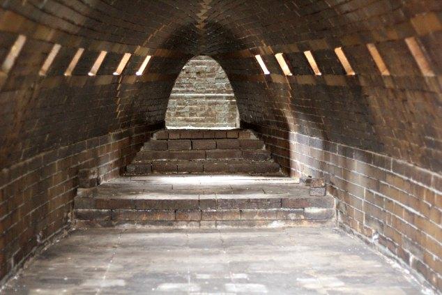 Inside the kiln at East Fork. www.handmadenc.com