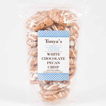 Tonya's Cookies White Chocolate Pecan Crisp #HandmadeNC