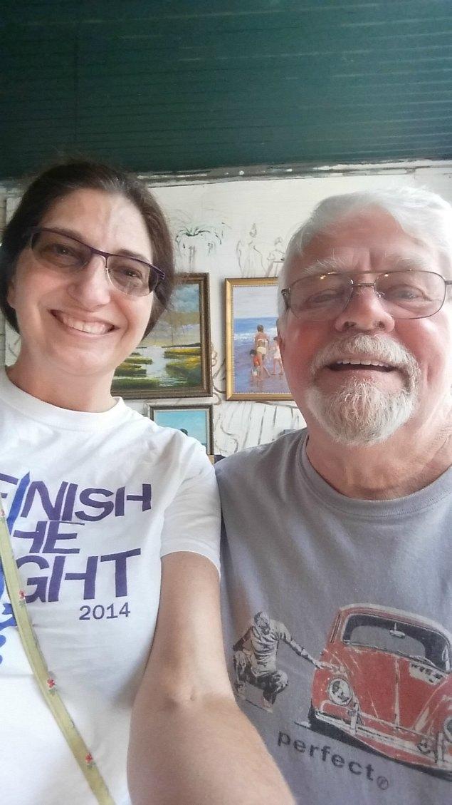 Janet and Art Tyndall at his studio in Washington, NC