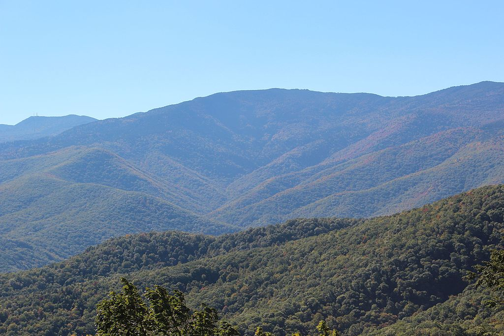 Mt Mitchell from from Black Mountains Overlook, October 2016